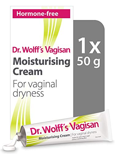 Dr. Wolff´s Vagisan Moisturising Cream | Hormone Free Vaginal Moisturiser for Vaginal Dryness | Intimate Cream for Daily Vaginal Health | 1x 50g