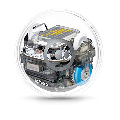Sphero BOLT: App-Enabled Robot Ball with Programmable Sensors + LED Matrix, Infrared & Compass - STEM Educational Toy for Kids - Learn Javascript, Scratch & Swift