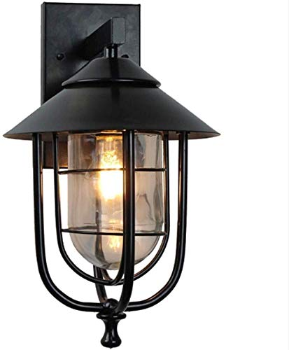 Wandlamp, buitenlamp, LED-lamp, zaklamp, buitenverlichting, tuin, villa, veranda, E27, waterdicht, vintage, patio