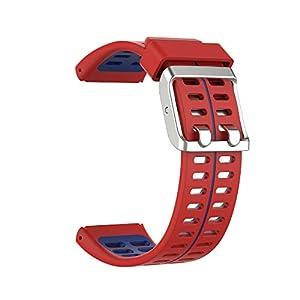 BoLuo Correa para Polar V800,Bandas Correa Repuesto,Correas de Reloj,Silicona Reloj Recambio Ajustable Brazalete Correa Repuesto Strap Wristband para Polar V800 GPS Sports watch Accessories (azul)