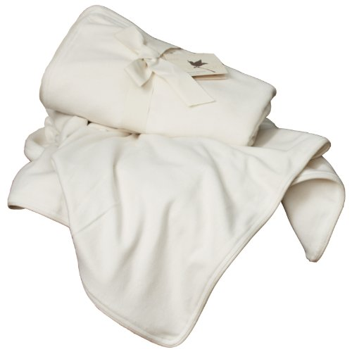 Great Features Of LIFEKIND Natural Silk and Fleece Organic Throw Blanket, Ivory, 45 x 60 Inches