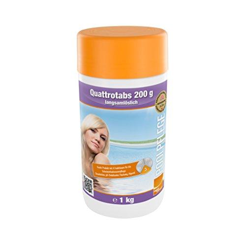 Steinbach Poolpflege Quattrotabs, 200g langsamlöslich, 1 kg, Chlorprodukt, 0752601TD08