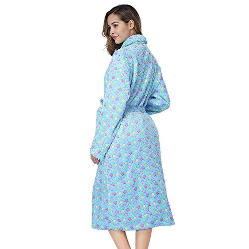 RONGTAI-Women-Fleece-Robe-with-Pockets-Plush-Soft-Warm-Long-Bathrobe