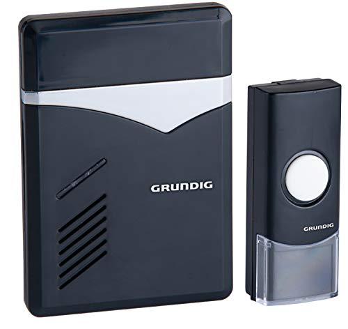 Preisvergleich Produktbild Funk - Türglocke Grundig,  3 Klingenoptionen,  Klingel / blinkende LED / Klingel mit Fernbedienung,  mit 6 Tönen