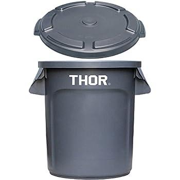トラスト ソーラウンドコンテナ 38L Trust THOR Round Container [ グレー/フタ付き ]