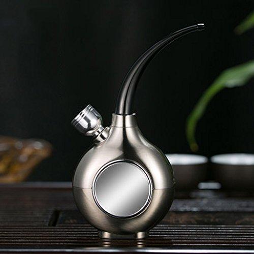 Liuyu · Maison de Vie Eau Tabac Pipe Filtre Cigarette Titulaire Fumée Pot Fumer Pipe Ensemble Complet (Couleur : Silver)