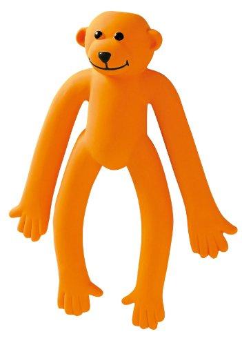 HUNTER SQUEEZY MONKEY Hundespielzeug, Latex, mit Quietscher, Affe, 25 cm, orange