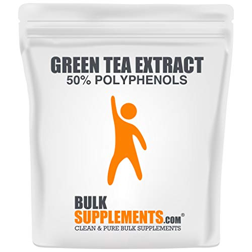 BulkSupplements.com Green Tea Extract 50% Polyphenols Powder - Green Tea Fat Burner - Green Tea Supplement (500 Grams - 1.1 lbs)