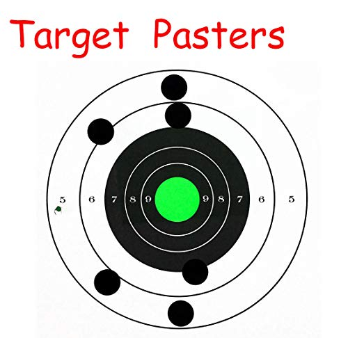 SMARSTICKER 1 Inch Round Blank Black Shooting Target Pasters 1,000 Adhesive Target Dots Photo #4