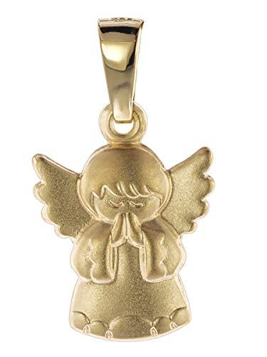 trendor Kinder Anhänger Engel Gold 585 liebevoller Goldanhänger für Mädchen oder Jungen, Engelanhänger für Kids, toller Goldschmuck, Geschenkidee 08758