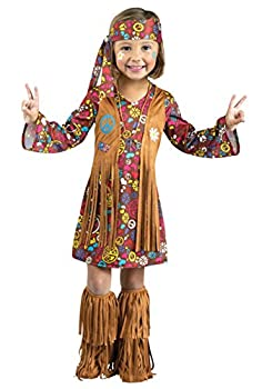 Fun World Toddler Peace & Love Hippie Costume Large  3T-4T