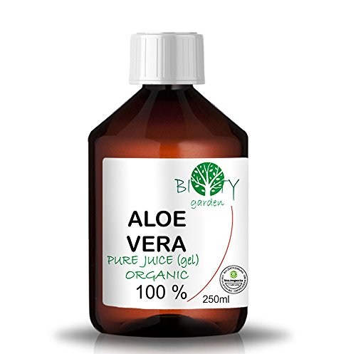 100% Pure Jus d'Aloe Vera Organique (liquide, sans épaississants) (250 ml) Jus Natif origine Canaries