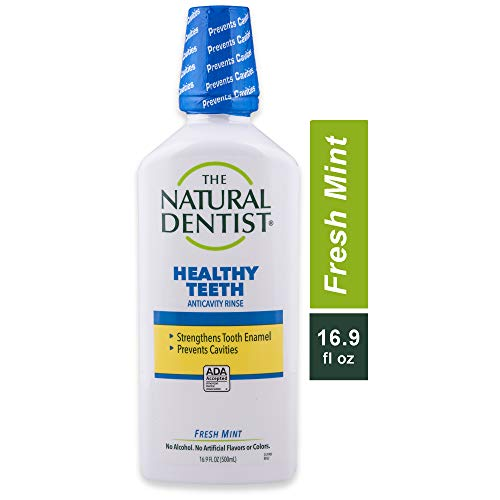 The Natural Dentist Healthy Teeth Fluoride Anticavity Mouth Wash, 16.9 Ounce Bottle