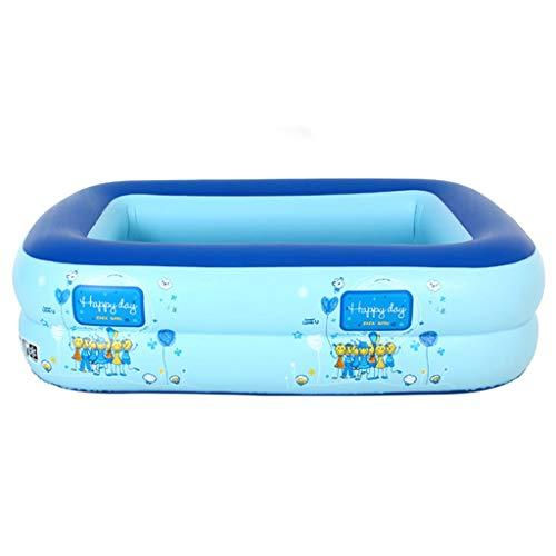 Kleuterbad Opblaasbaar bad, Vouwbad Familiezwembad Volwassen Badkuip Blauw 110CM*90CM*35CM tuin speelgoed