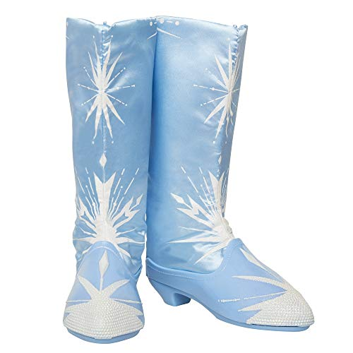 Glop Games- Disney Frozen 2 Elsa Travel Boots for Girls Costume or Role Play Dress-Up, Adjustable Botas, Multicolor (Jakks 202992-PB)