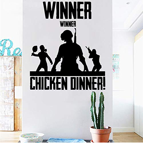 Winner Winner Chicken Dinner Vinyl Decal Game Art Home Decor Quote Wall Sticker 45 X 38 Cm