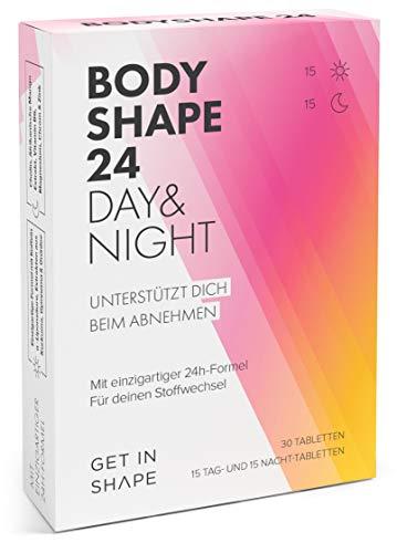 BODYSHAPE 24 Day & Night Tabletten (Grüner Kaffee, Grüntee Extrakt, Kurkuma Extrakt etc.) - von Get in Shape