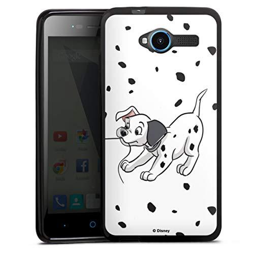 DeinDesign Silikon Hülle kompatibel mit ZTE Blade L3 Case schwarz Handyhülle 101 Dalmatiner Hund Disney