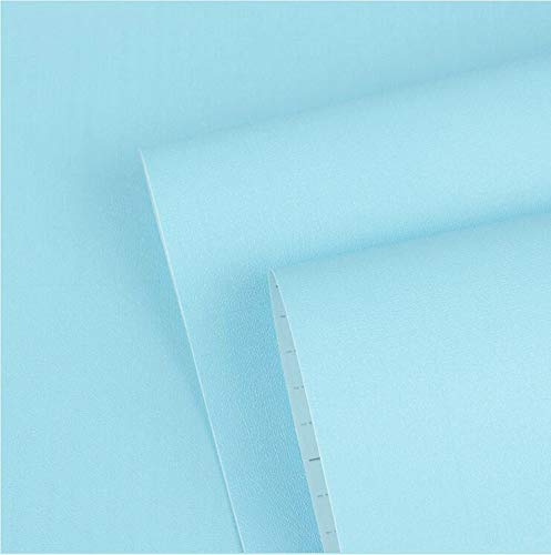 Blue Wallpaper Peel and Stick Wallpaper Blue Contact Paper Solid Color wall Paper Covered Self Adhesive Wallpaper Removable Blue Shelf Liner Drawer Liner Vinyl Film 17.7'x78.7'