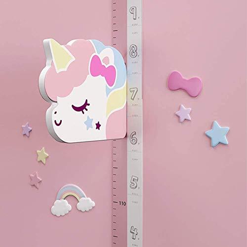 HB.YE 3D Messlatte Wandsticker Abnehmbare Growth Lineal Messlatte Cartoon Höhenlineal für Jungen Mädchen Kinderzimmer Schlafzimmer Dekoration