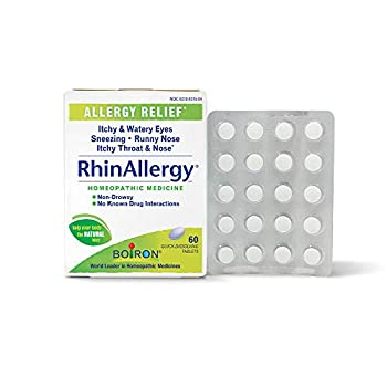 Boiron Rhinallergy Homeopathic Medicine for Allergy Relief White No Flavor 60 Count