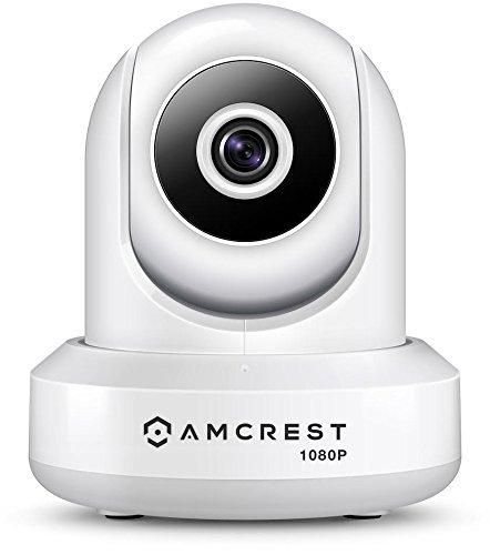 Amcrest Cámara WiFi ProHD 1080P 2MP (1920TVL) Cámara Inalámbrica Panorámica / Inclinación Para Interiores IP2M-841W (Blanco)