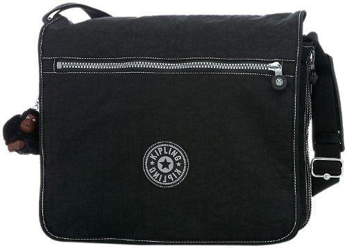 Kipling Madhouse Expandable Messenger Bag, Black, One Size