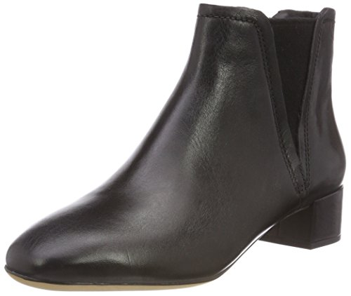 Clarks Damen Orabella Ruby Stiefeletten, Schwarz (Black Leather), 40 EU