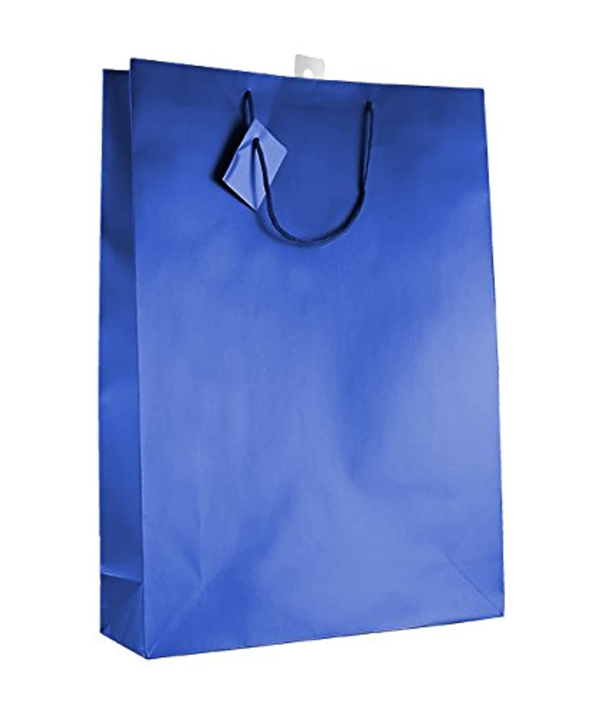 12-PC Solid Color Gift Bags, Matt Laminated, Dark Blue Color