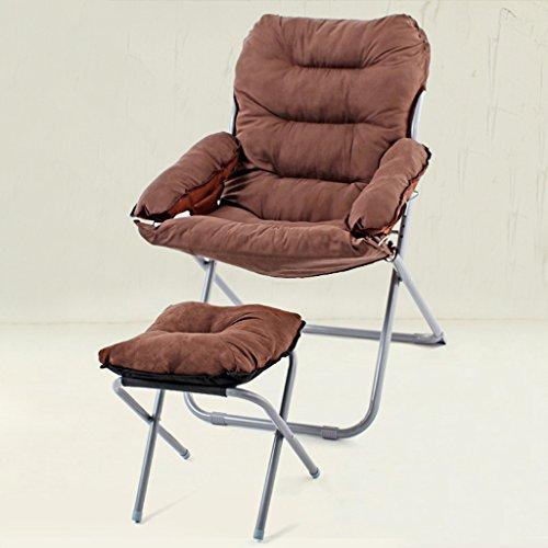lazy sofa LI Jing Shop - Divan canapé Moderne simplicité Paresseux canapé Chambre individuelle Balcon dortoir Femmes Enceintes Accueil avec accoudoirs Chaise (Couleur : Marron foncé)