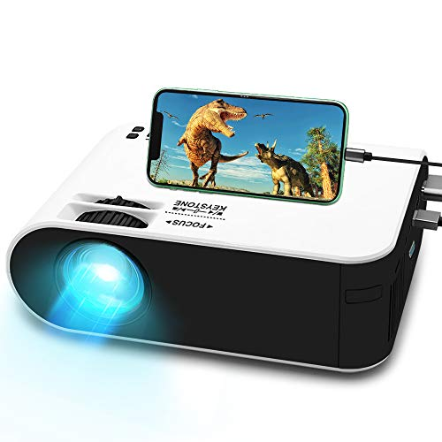 WayGoal Mini Projector with 50,000 Hour Lamp Light, 720p HD - $67.61 Today