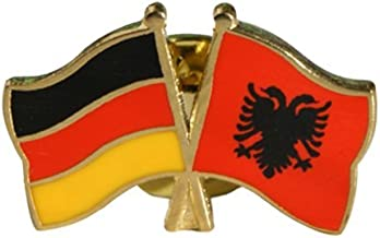 Freundschaftspin Albanien Pin NEU Fahne Flagge