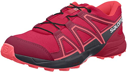Salomon Kinder SPEEDCROSS J, Trailrunning-Schuhe, Rot (Cerise/Navy Blazer/Dubarry), Größe 36