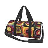 MBNGDDS Bolsa de viaje con cuadrados abstractos, ligera, plegable, impermeable, con correa para el hombro, bolsa de deporte para hombres y mujeres, ver imagen, Talla única,