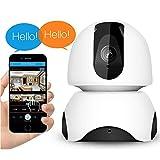 FACAIA Cámaras De Seguridad WiFi De Interior 1080p Inalámbrico Estable Wi-Fi Seguridad 360 ° Gran Angular 2 Vías Función De Detección De Movimiento De Audio Disparo HD