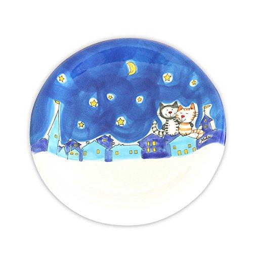 Mila Keramik-Teller, NachtKatzen | MI-84425 | 4045303844254