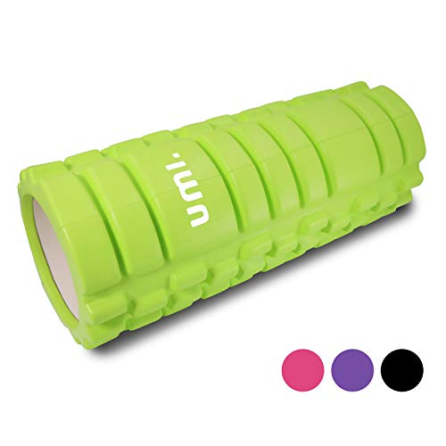 UMI. by Amazon - Foam Rollers Muscle Roller for Deep Tissue Muscle Massage Ultra Lightweight for Deep Pain Relief in Aching Legs and Body