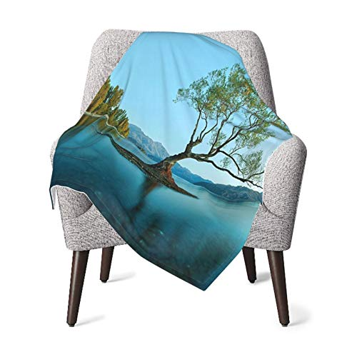 Nature Spring Tree On The Lake Surface Surreal Surprises Of Mother Earth Photo Print Es Teal Fern Green Baby Blanket, Baby Quilt, Baby Comfort Blanket, Baby Double Blanket
