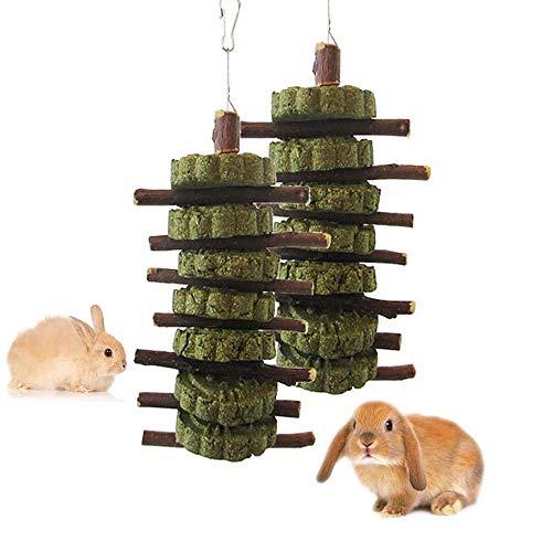 2 Pièces Hamster Jouets à Mâcher Bâtons de Pomme,Naturel Branches d'Arbres Pomme Mâcher Bois Petits Animaux Dents de Broyage Jouets Snacks pour Petits Animaux Lapin,Hamster, Chinchilla,Cochons d'Inde