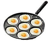 IUYJVR 7 Agujeros Huevo Tortilla Olla sartén Antiadherente dólar de Plata Fabricante de panqueques Revestimiento Utensilios de Cocina con Fondo de inducción