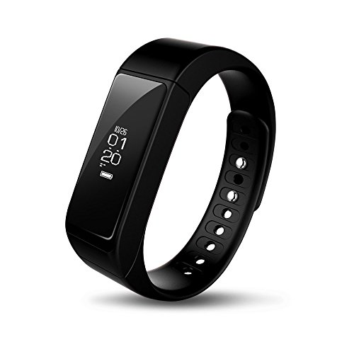 iWOWNfit I5Plus Smart Wristband, Bluetooth Touch Screen Steps Calorie Track Braccialetto per iOS e Android (nero)