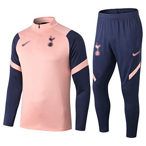 Weqenqing 2021 Ropa Deportiva de Manga Larga del Club de fútbol Europeo, Camiseta con Media Cremallera, Traje de Entrenamiento Deportivo Transpirable de Primavera y otoño (Top + Pantalones)