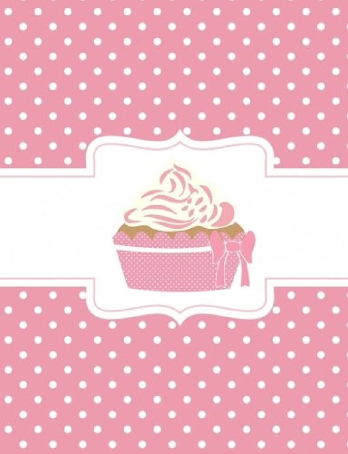 発言する唯一爆発するPink Polka Dot Cupcake Composition Notebook: 5x5 Quad Rule Graph Paper - 202 Pages, (7.44 x 9.69)