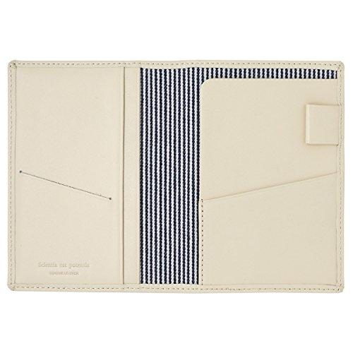 スリップオン パスポートケース ノワール 革 ホワイト NSL-2801
