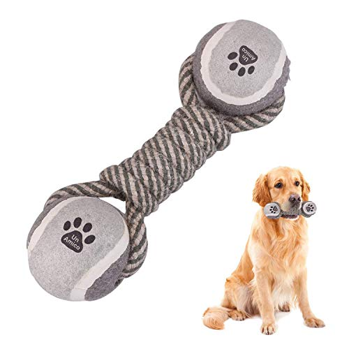 UnAmico Perros Juguetes de Cuerda de,Dientes, Entrenamiento IQ para Perros pequeños y medianos