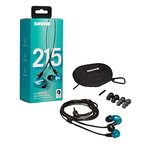 Shure SE215SPE Special Edition Sound Isolating Earphones with Single Dynamic MicroDriver,Blue