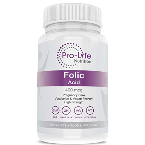 Folic Acid 400 mcg Pregnancy Vitamins – 180 Prenatal Vitamins for Women - 3 Month Supply of Breastfeeding Vitamins & Fertility Supplements – Folic Acid Pre Pregnancy Care by Pro-Life Nutrition