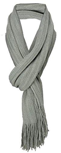 Gordijn in grijs effen met franjes - grootte sjaal 170 x 35 cm