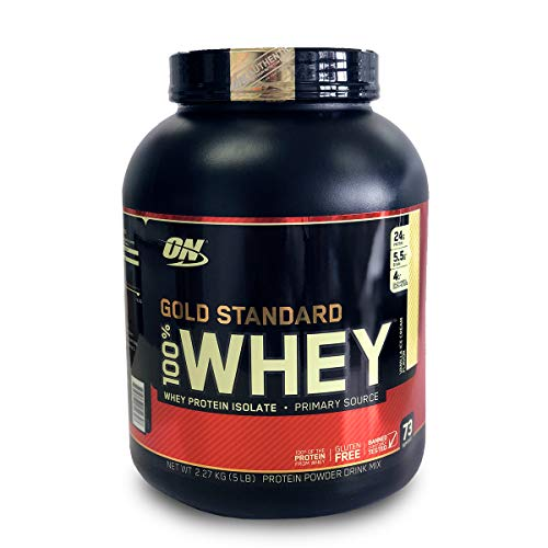 Optimum Nutrition 100% Whey Gold Standard, Vainilla, 5 Lb
