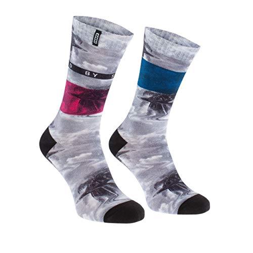 Ion Seek Fahrrad Socken weiß/grau 2021: Größe: 39-42